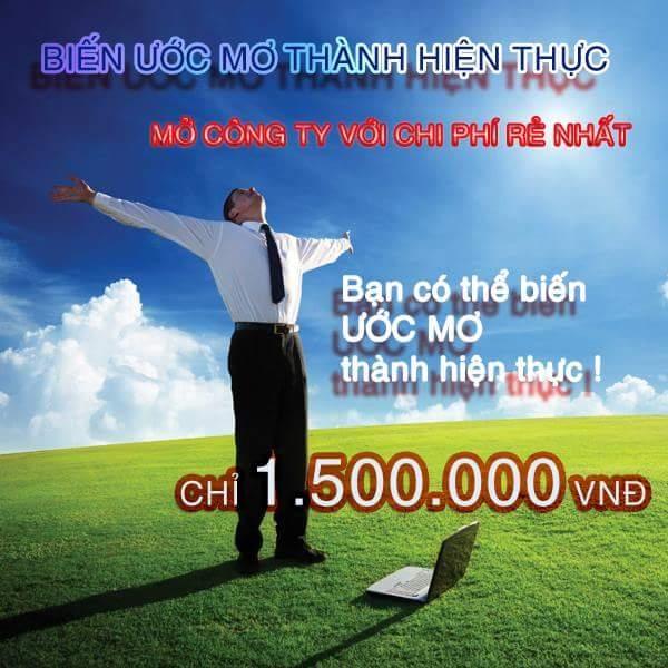 Phí dịch vụ chỉ từ 1.500.000 VND