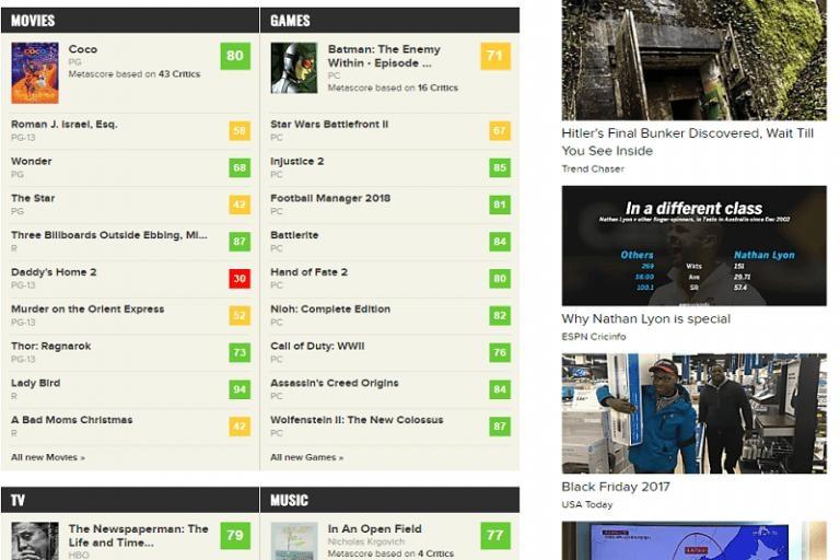 Đánh giá phim tại website Metacritic.com