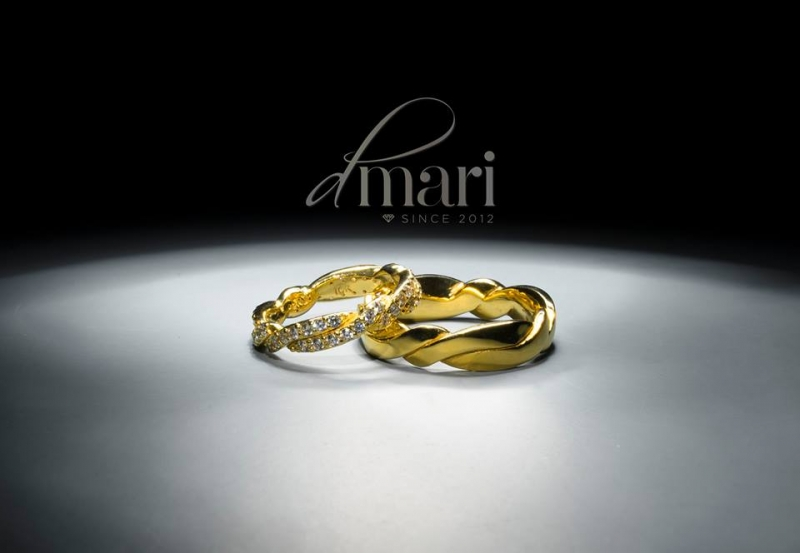 Cặp nhân đôi bằng vàng của DMari Jewelry