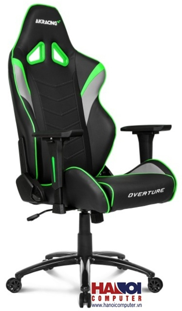 Ghế Gamer AKRacing OverTure K601O Black/Grey/Green,