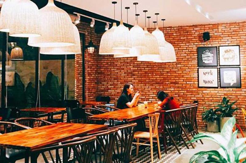 Không gian của quán Cafe 5oF