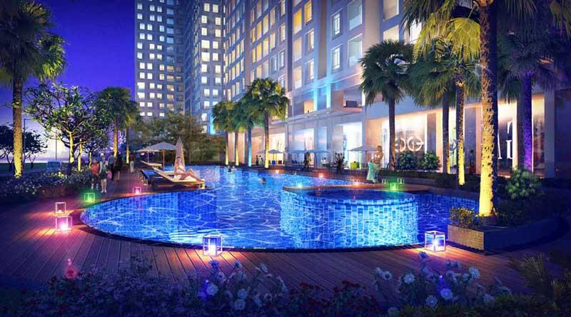 Hồ bơi bên trong dự án Opal Saigon Pearl (Căn hộ Opal Tower)