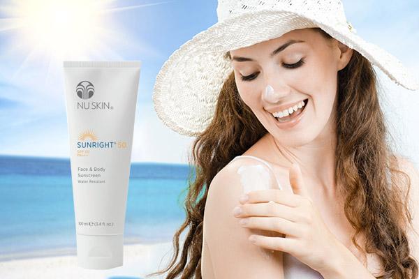 Kem chống nắng Nuskin Sunright SPF 50 PA +++ - lựa chọn hoàn hảo cho mặt và body
