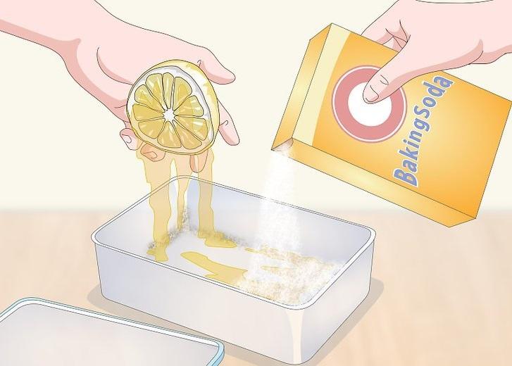 Dùng baking soda để khử vét bẩn, vết ố cứng đầu trên mặt ghế