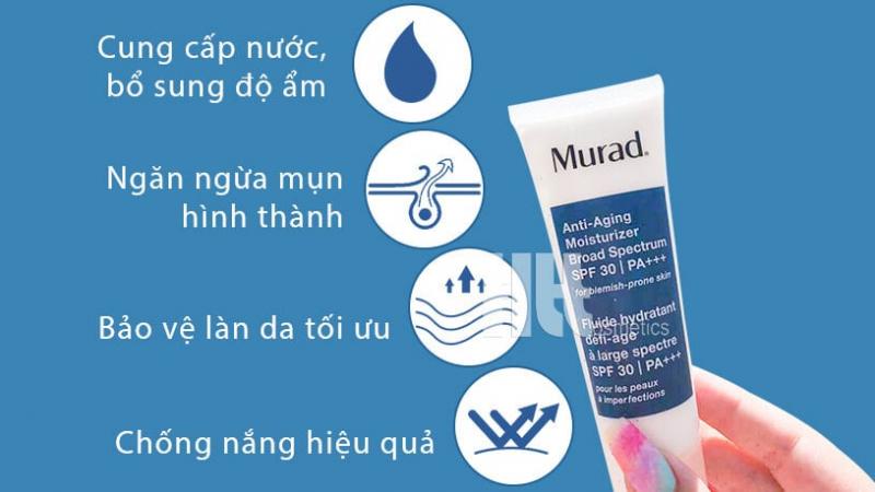 Kem chống nắng Anti-Aging Moisturizer Broad Spectrum SPF 30 PA+++ - một trong những sản phẩm bán chạy hàng đầu của Murad