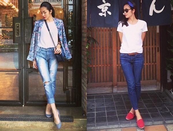 Quần jean - áo phông khá thịnh hành ở Việt Nam