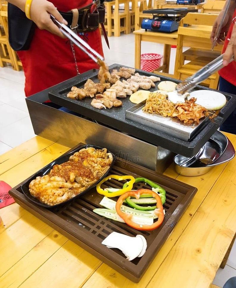 Đồ ăn tại Namsan BBQ