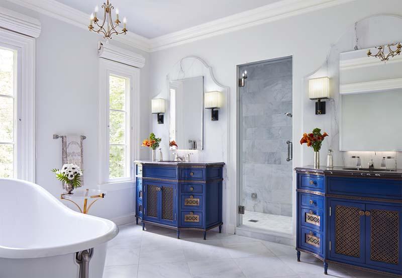 Thiết kế nhà tắm phong cách Địa Trung Hải: vẻ đẹp trang nhã, sang trọng