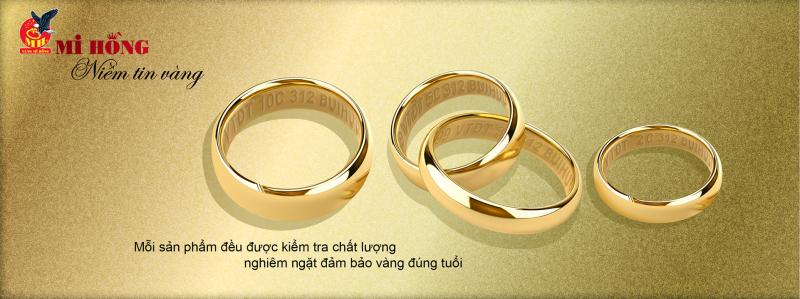 Nhẫn trơn tại tiệm vàng Mi Hồng