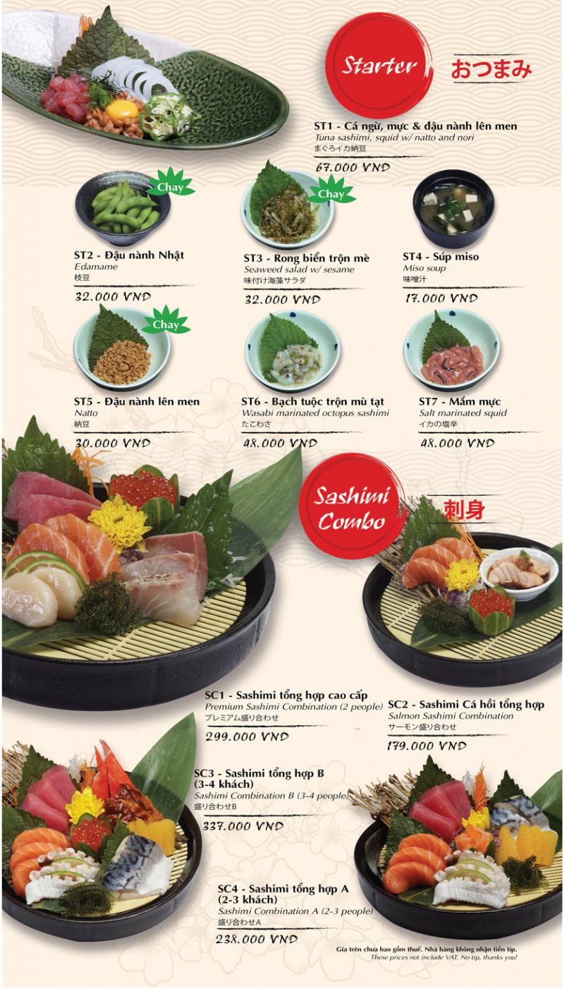 Tokyo Deli ghi điểm khi mang đến menu cực kì đa dạng, phù hợp với nhiều đối tượng khách hàng