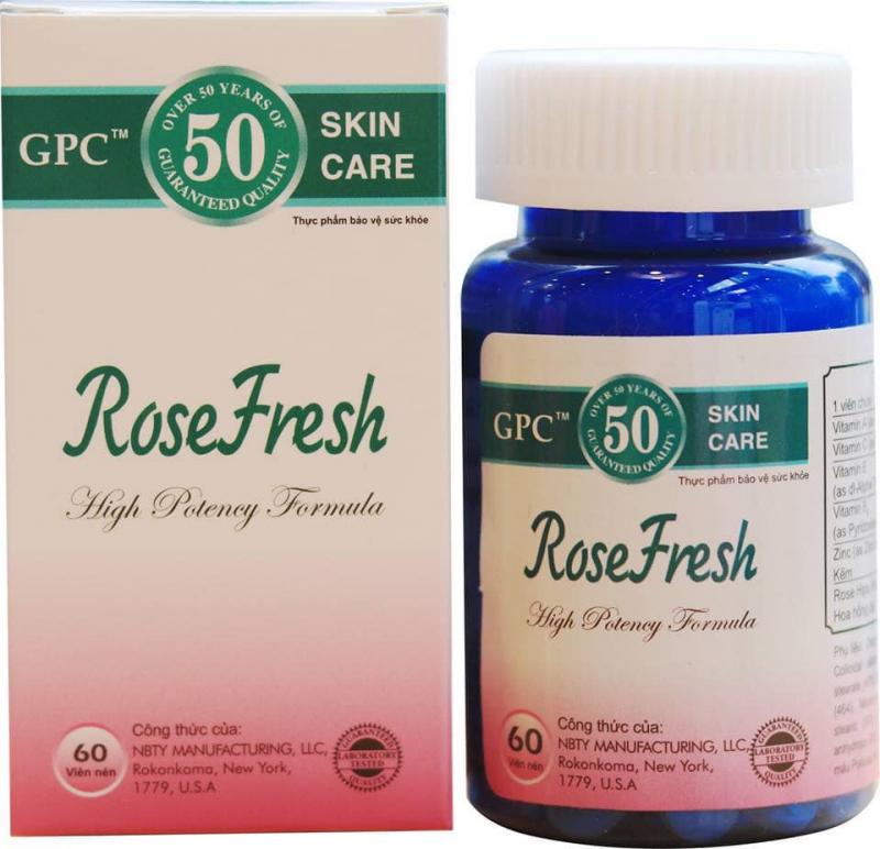 Viên uống trị mụn Rose Fresh
