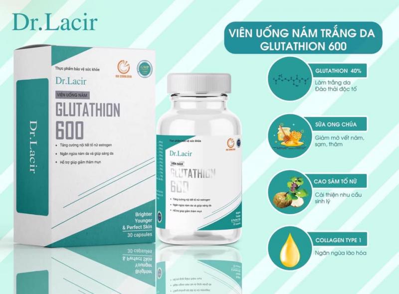 Viên uống trị nám Glutathion 600